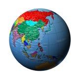 De aarde in China Royalty-vrije Stock Foto's