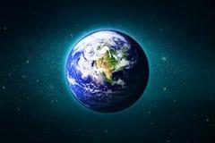 De Aarde in de melkweg, Elementen van dit die beeld door NASA wordt geleverd Stock Afbeelding