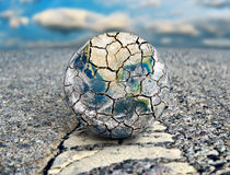 De aarde is de weg aan ecologische ramp Elementen van dit die beeld door NASA wordt geleverd Stock Foto's