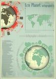 De Aarde en de Bouw van Infographics Stock Fotografie