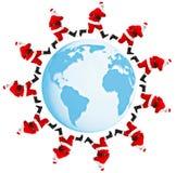 De aarde en de Kerstman Royalty-vrije Stock Fotografie