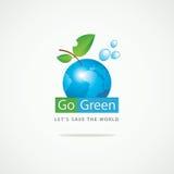 De aarde gaat Groen Stock Fotografie