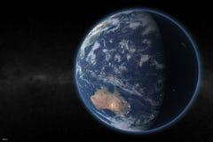 De aarde geeft 1 terug royalty-vrije stock afbeeldingen