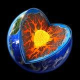De aarde is gemakkelijk om ons van de hand te doen. Stock Foto's