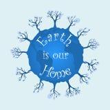 De aarde is ons huis Royalty-vrije Stock Afbeelding