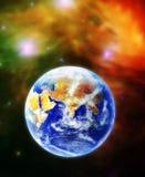 De aarde, onze huisplaneet Terra in ruimte Royalty-vrije Stock Foto