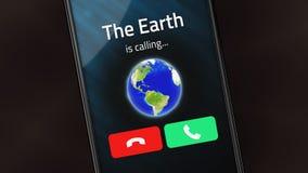 De Aarde roept stock foto