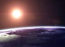 De Aarde schoot van het ruimte alle tonen zij schoonheid royalty-vrije stock fotografie