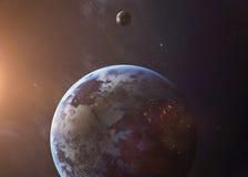 De Aarde schoot van het ruimte alle tonen zij schoonheid royalty-vrije stock foto