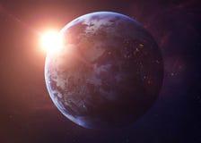 De Aarde schoot van het ruimte alle tonen zij schoonheid royalty-vrije stock afbeeldingen