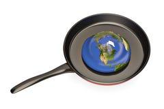 De aarde smelt in het pan globale het verwarmen probleem 3D illustratio Royalty-vrije Stock Afbeelding