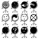 De Aarde van bollen zoals karakter Royalty-vrije Stock Afbeeldingen