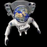 De Aarde van de astronaut stock illustratie