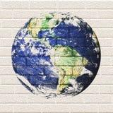De Aarde van de Bakstenen muur Royalty-vrije Stock Afbeelding