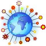 De aarde van de bloem Royalty-vrije Stock Afbeeldingen