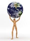 De Aarde van de holding Royalty-vrije Stock Foto