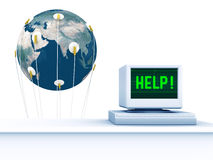 De Aarde van de hulp Stock Foto