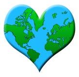 De Aarde van de liefde Stock Afbeeldingen