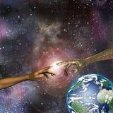 De Aarde van de mens en van de Machine Royalty-vrije Stock Foto