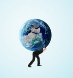De aarde van de mensenholding royalty-vrije stock foto's