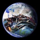 De Aarde van de stortplaats royalty-vrije stock afbeeldingen