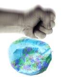 De aarde van de verbrijzeling royalty-vrije stock foto