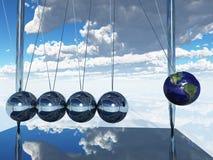 De Aarde van de Wieg van Newtons Stock Afbeeldingen