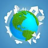 De Aarde van Eco Stock Foto
