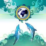 De Aarde van Eco, schoon water Stock Foto