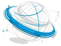 De aarde van Electraonic stock illustratie