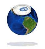 De Aarde van het aluminium Royalty-vrije Stock Afbeeldingen