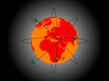 De Aarde van het atoom Stock Fotografie