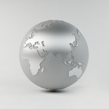 De Aarde van het chroom Royalty-vrije Stock Afbeeldingen