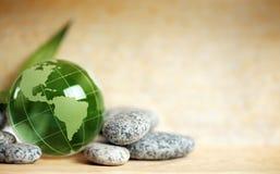 De aarde van het glas Stock Foto's