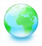 De aarde van het kristal Stock Foto