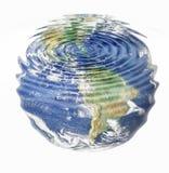 De aarde van het water Stock Foto
