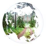 De aarde van het wereldconcept het 3d teruggeven Royalty-vrije Stock Afbeeldingen