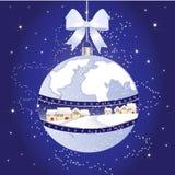 De aarde van Kerstmis Stock Fotografie