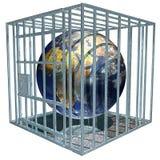 De Aarde van Prisoned stock illustratie