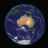 De Aarde van ruimte die Australië en Indonesië tonen Uiterst gedetailleerd die beeld met inbegrip van elementen door NASA worden  stock illustratie