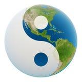 De aarde van Yin yang royalty-vrije illustratie