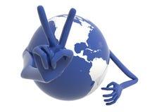 De aarde viert een overwinning. Royalty-vrije Stock Afbeelding