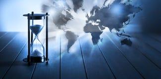 De Aardeachtergrond van de tijdklimaatverandering royalty-vrije stock afbeelding