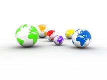 De aardebollen van Planete Stock Afbeeldingen