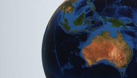 De aardemening die 3d Australië tonen, geeft terug Royalty-vrije Stock Foto's
