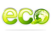 De aardeteken van Eco Stock Foto's