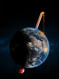 De aardetemperatuur is kritiek royalty-vrije stock afbeeldingen