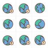 De Aardevector van de pictogrammenstijl Stock Afbeelding