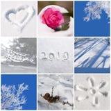 de aardfoto's van 2019, van de sneeuw en van de winter stock afbeelding