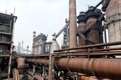 De aardgasleiding van het staal royalty-vrije stock afbeelding